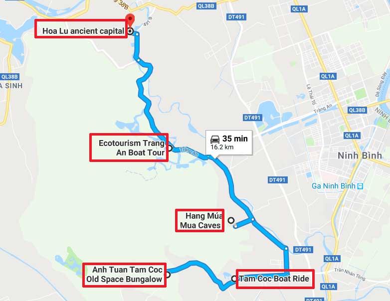 Sites connus la region Hoa Lu Tam Coc