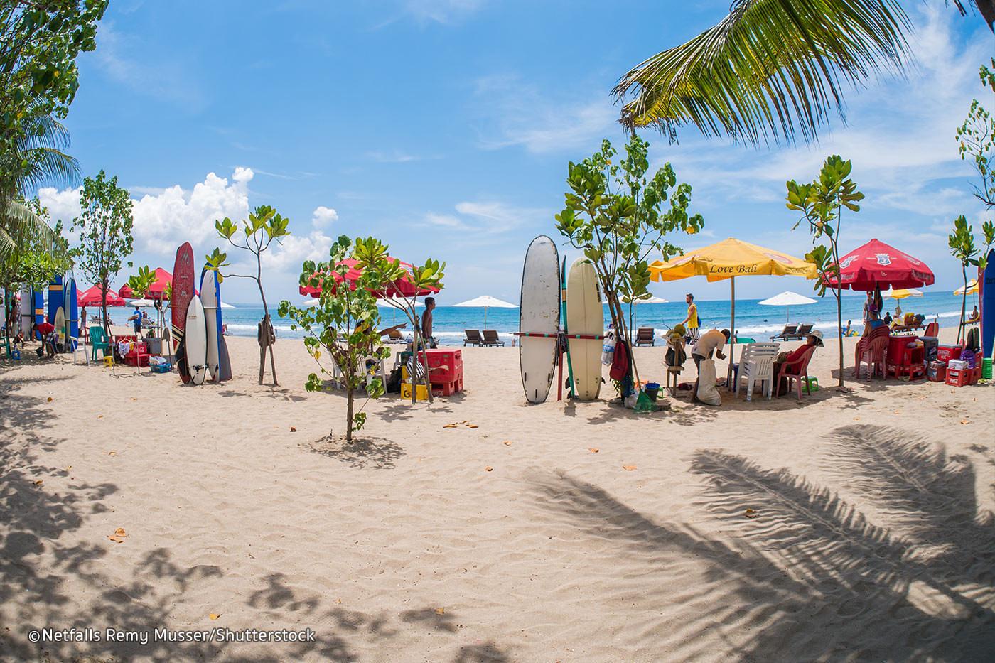 Kuta, une des belles plages de bali