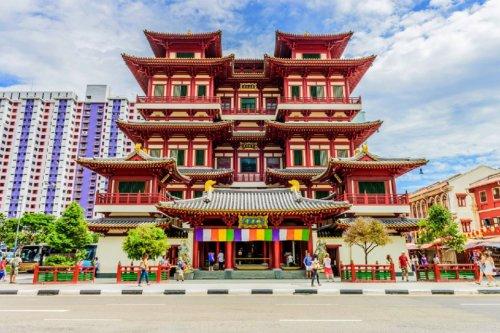 Temple de Chinatown à Singapour.