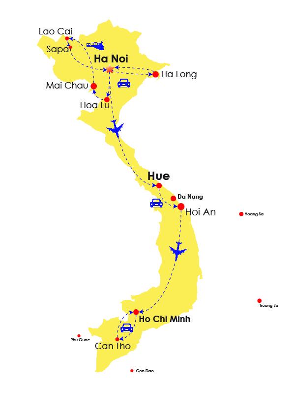 Circuit Vietnam 2 semaines