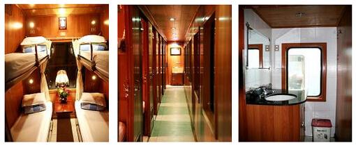 Train Hanoi Hue cabine 4 couchettes