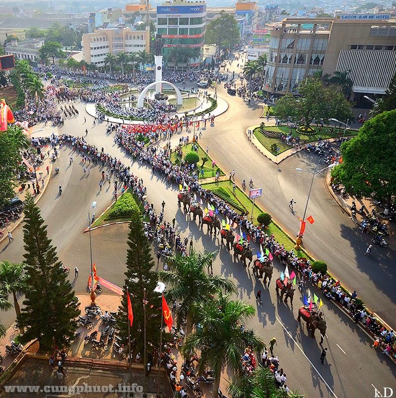 Centre ville de Boun Me Thuot
