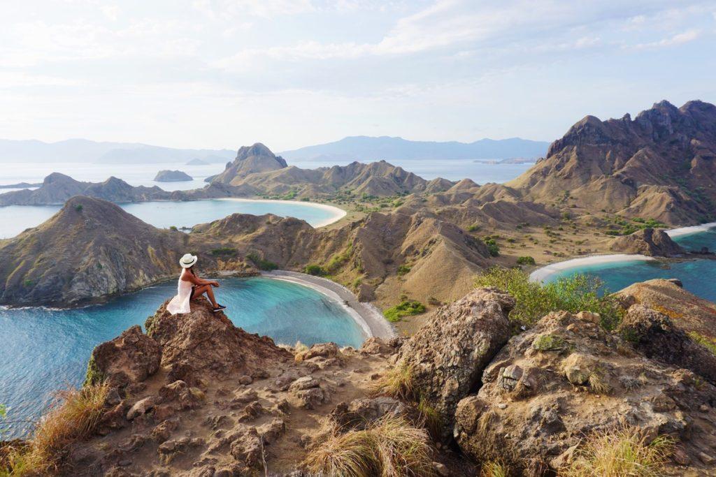 Point de vue de Pulau Padar, Indonésie