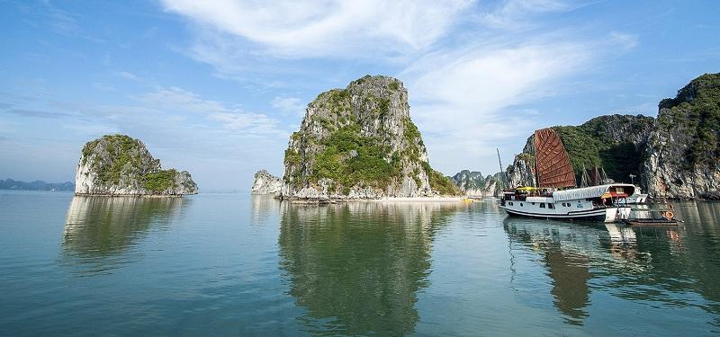 Lieu de baignade et kayaking dans la baie de Lan Ha