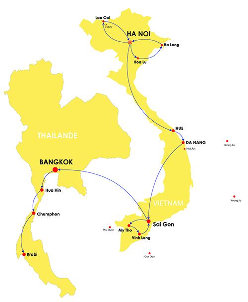 Itinéraire de 2 semaines en Thaïlande et au Vietnam, que faire en 2 semaines en Thaïlande et au Vietnam, 2 semaines en Thaïlande et au Vietnam, itineraire vietnam et thailande