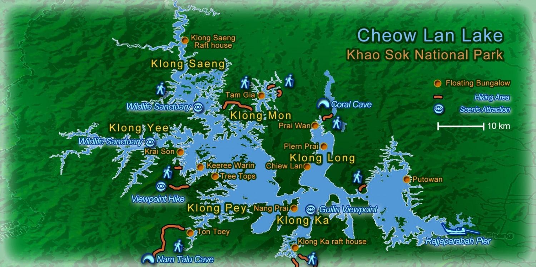Carte de Lac Cheow Lan