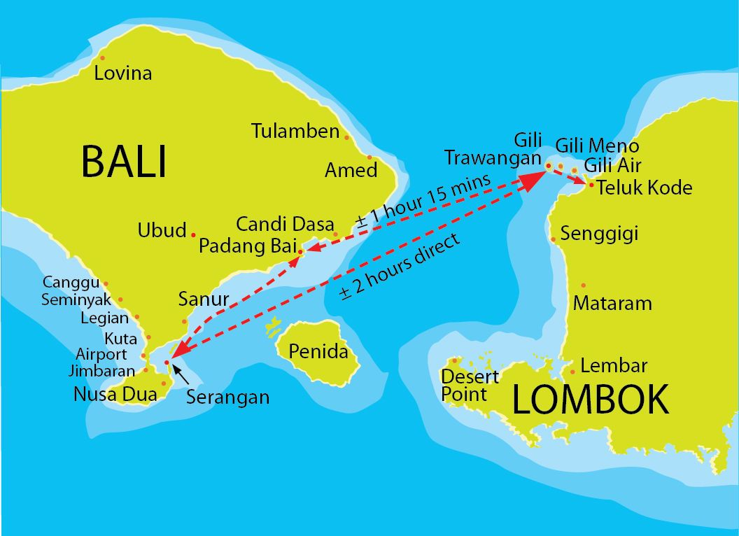 Carte de Nusa Dua, Bali