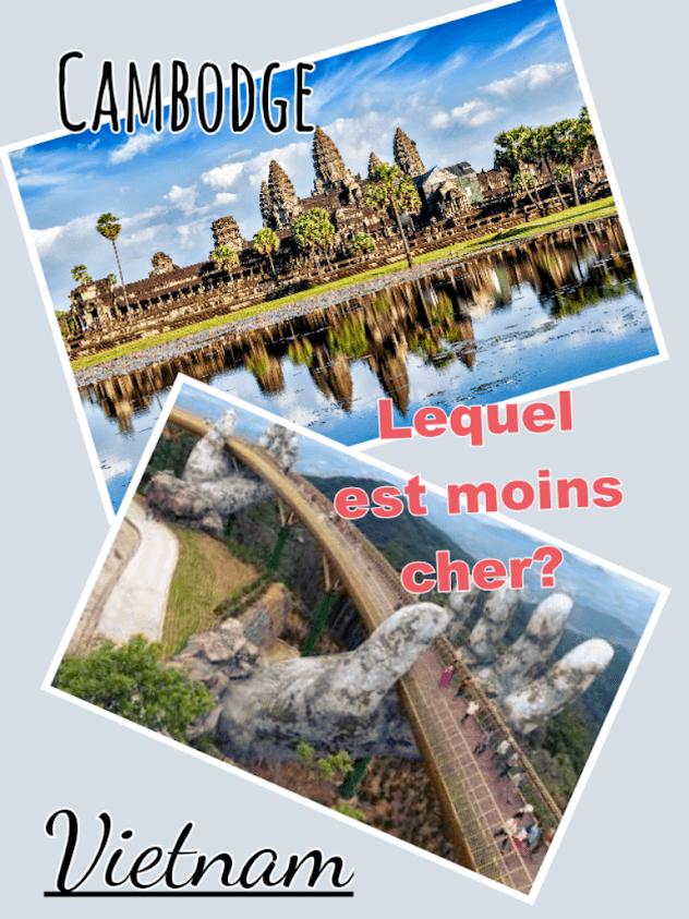 Une comparaison de couts de voyage entre le Vietnam vs le Cambodge